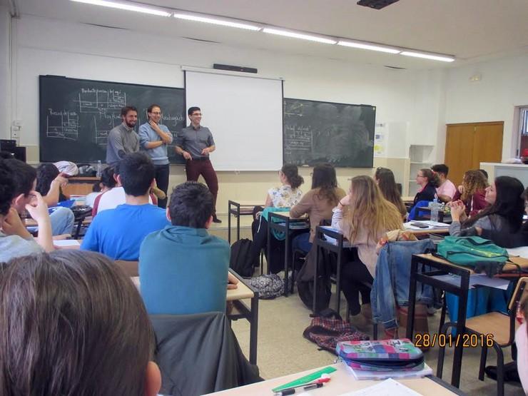Seminaristas del Seminario Mayor visitan el Colegio Calasanz de Alcalá