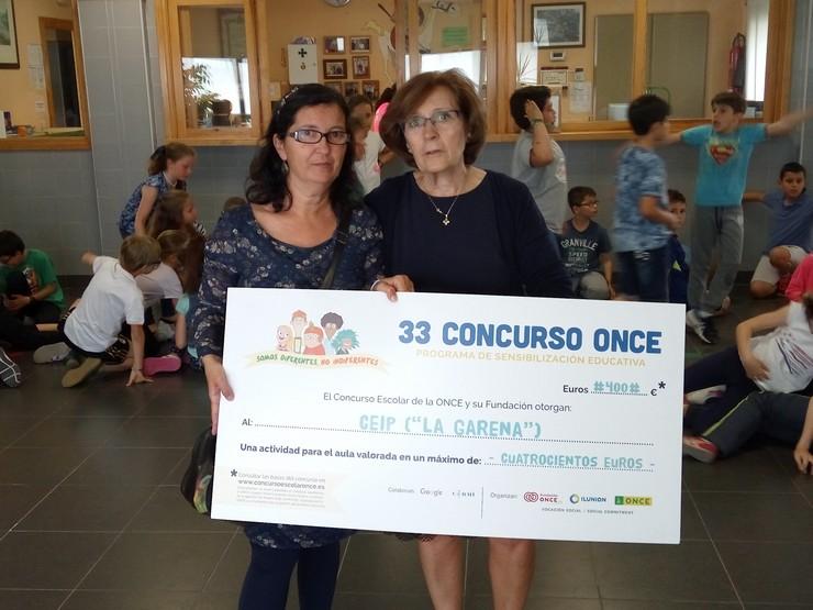 Profesoras y alumnos de Religión del CEIP La Garena premiadas en el Concurso ONCE del programa de sensiblización educativa
